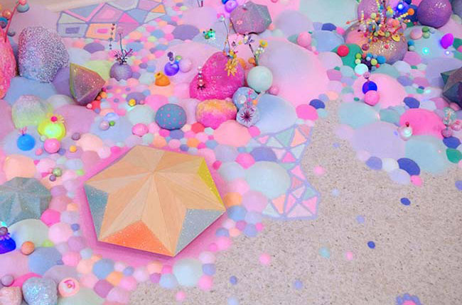 Pip & Pop – Colorful Floor Installations